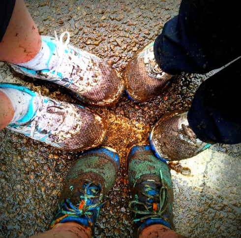 muddy runners